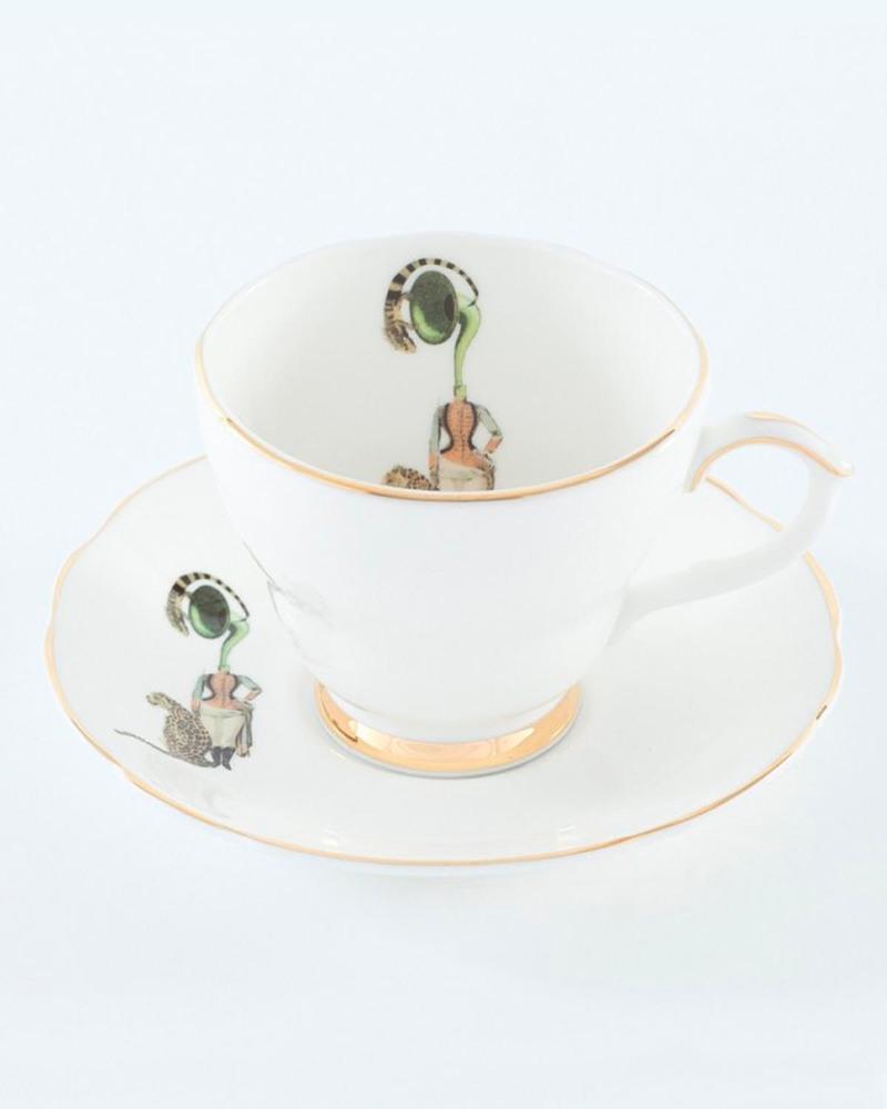 乐队女郎茶杯套装  Band Lady-Tea Cup&Saucer