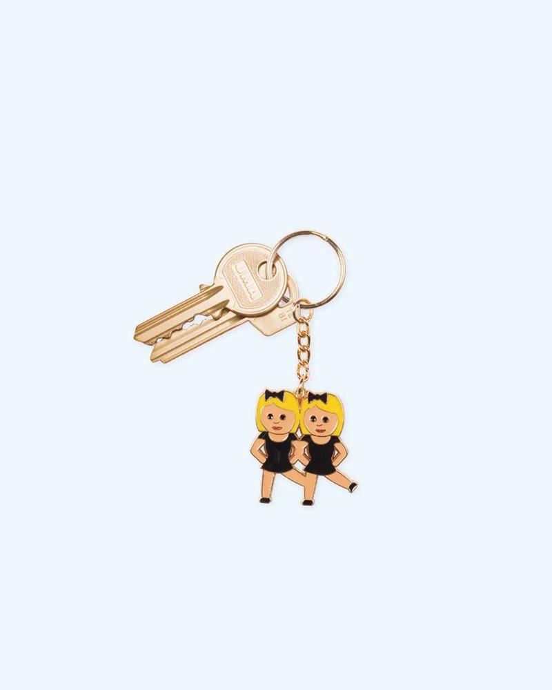 跳舞表情钥匙环
