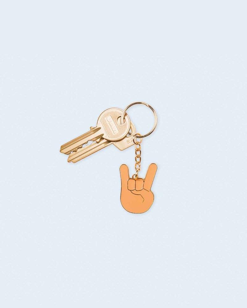 摇滚表情钥匙环