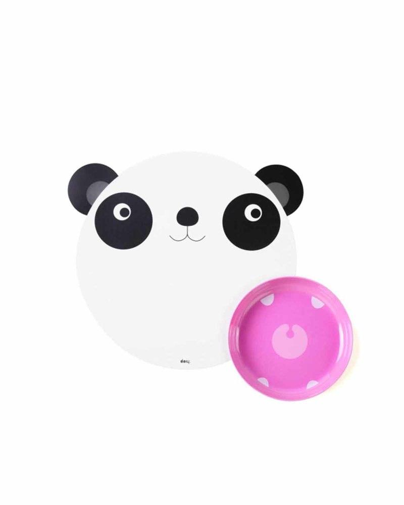 贪吃熊猫 儿童餐盘套装