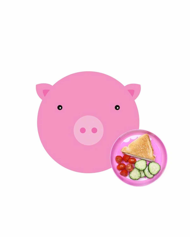 贪吃小猪 儿童餐盘套装