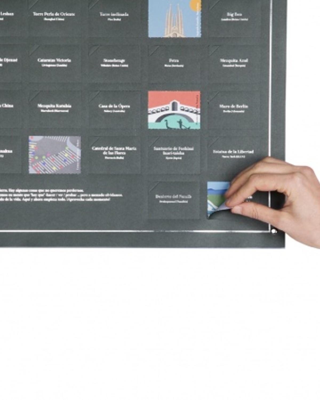 互动海报——一生必去的100个地方