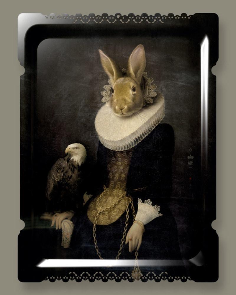 【肖像美术馆】Zhao-武曌黄铜玫瑰限量版壁画/托盘