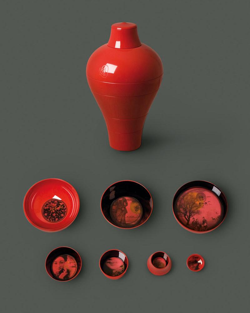 【幻影果盘系列】Red Ming -Set of 6 stackable pieces  红明