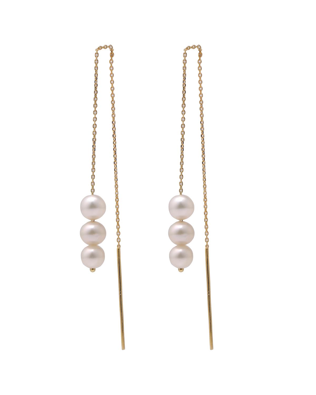 3号珍珠耳线