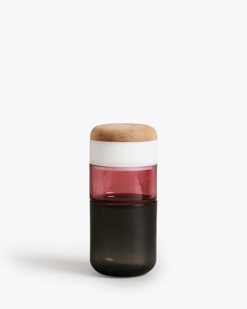 PI-NO-PI-NO花瓶/收纳 - Grey/Fuchsia/Opal White+Lid