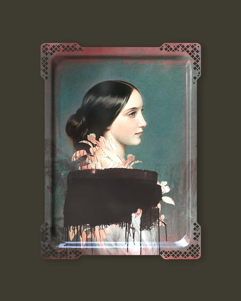 【肖像美术馆】IDA4-艾达多面女郎壁画/托盘
