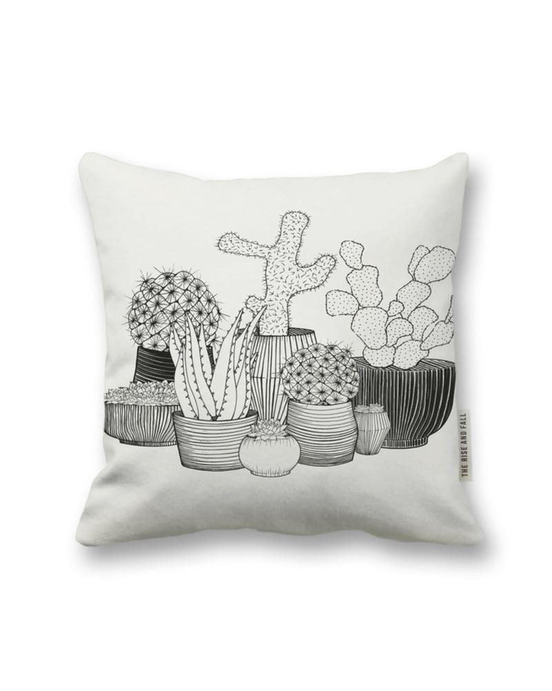 抱枕 Cotton Pillow-Cacti Square