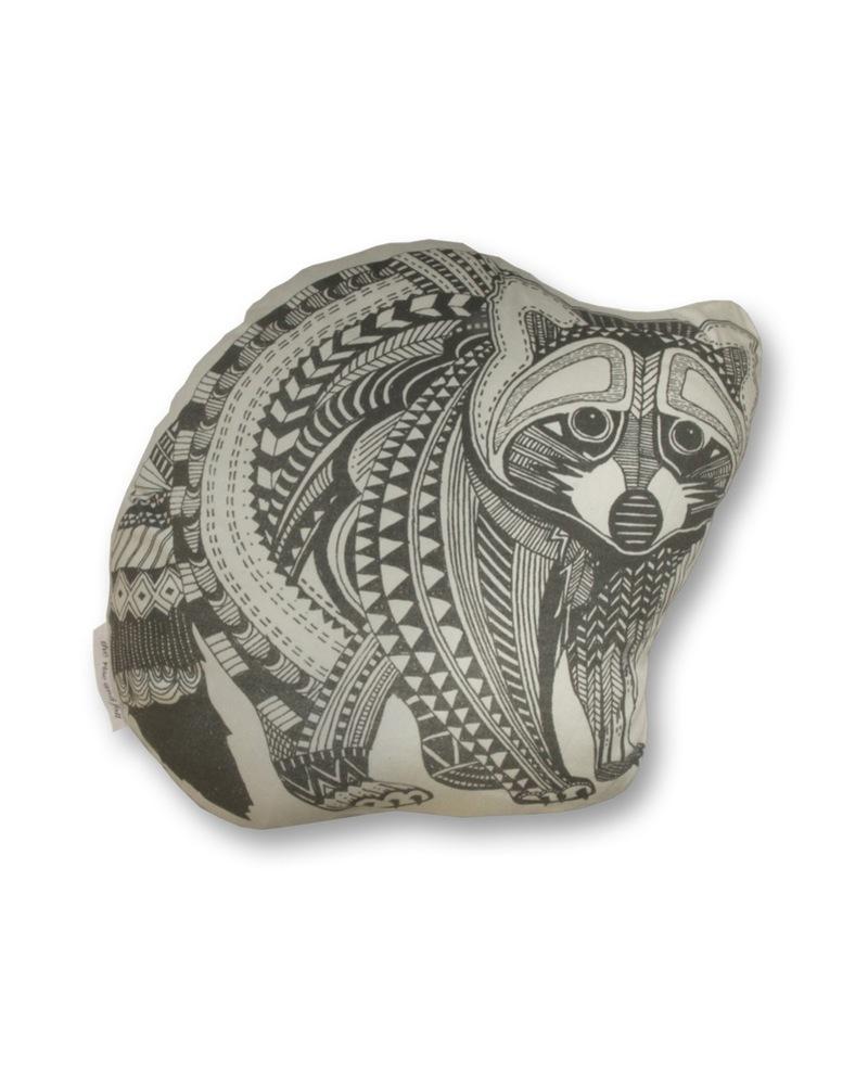 浣熊抱枕 Organic Cotton Pillow-Raccoon