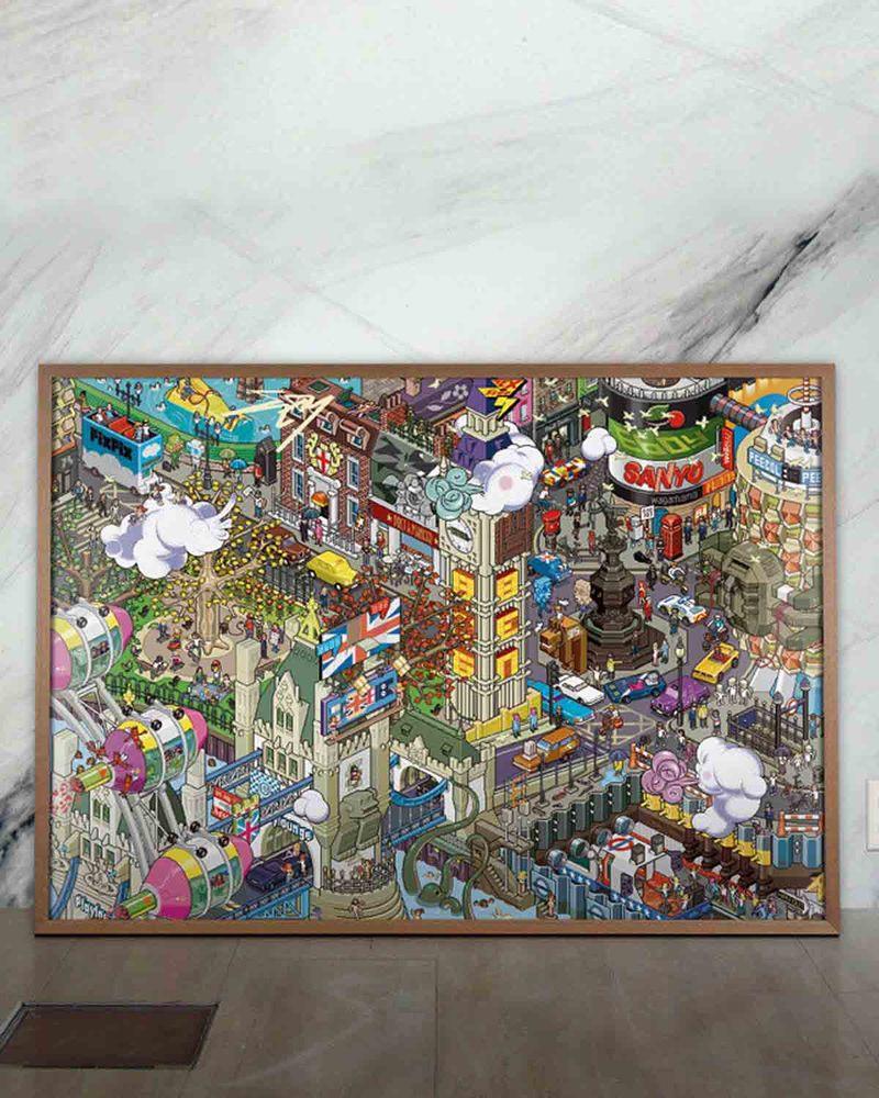像素艺术插画   London Poster A2