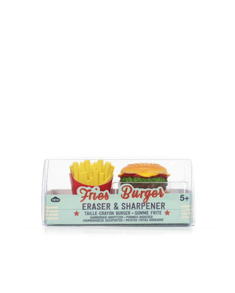 汉堡包削笔刀和薯条橡皮擦套装   Burger Sharpener & Fries Eraser
