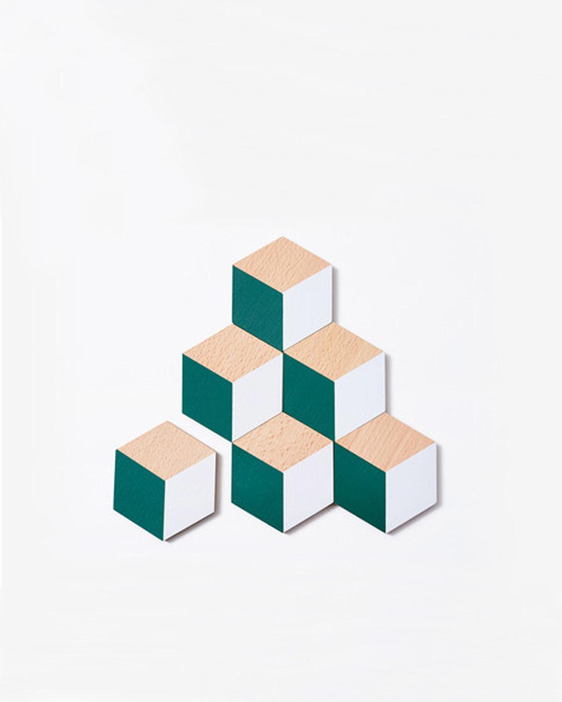几何软木杯垫 Table Tiles