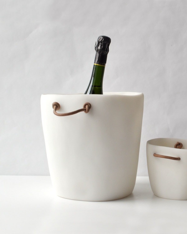 香槟冰桶 Champagne bucket with leather handles