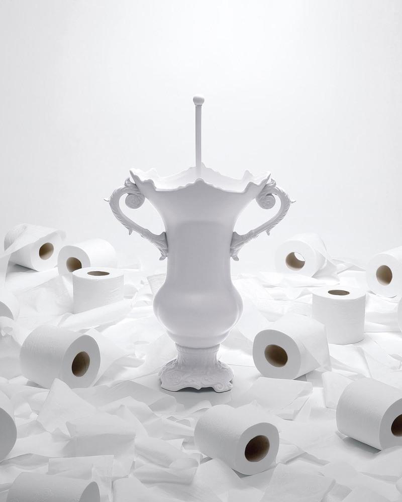 陶瓷马桶和马桶刷套装   WC royale porcelain toilet brush