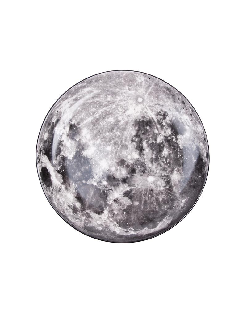 """星空系列餐盘——月亮  """"Cosmic Diner"""" Porcelain plate-Moon"""