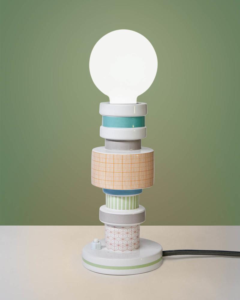 """陶瓷台灯 """"Moresque"""" Table Lamp In Porcelain -Turnot"""