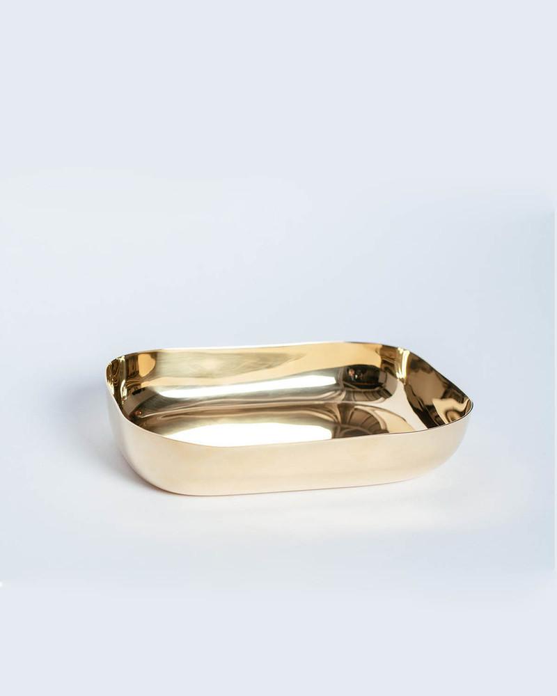 方形碗 Pete dish brass